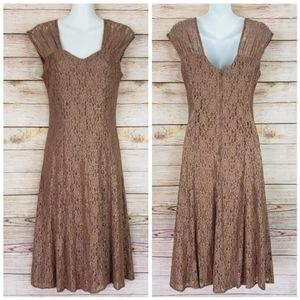 Lace Dress • Bronze Color